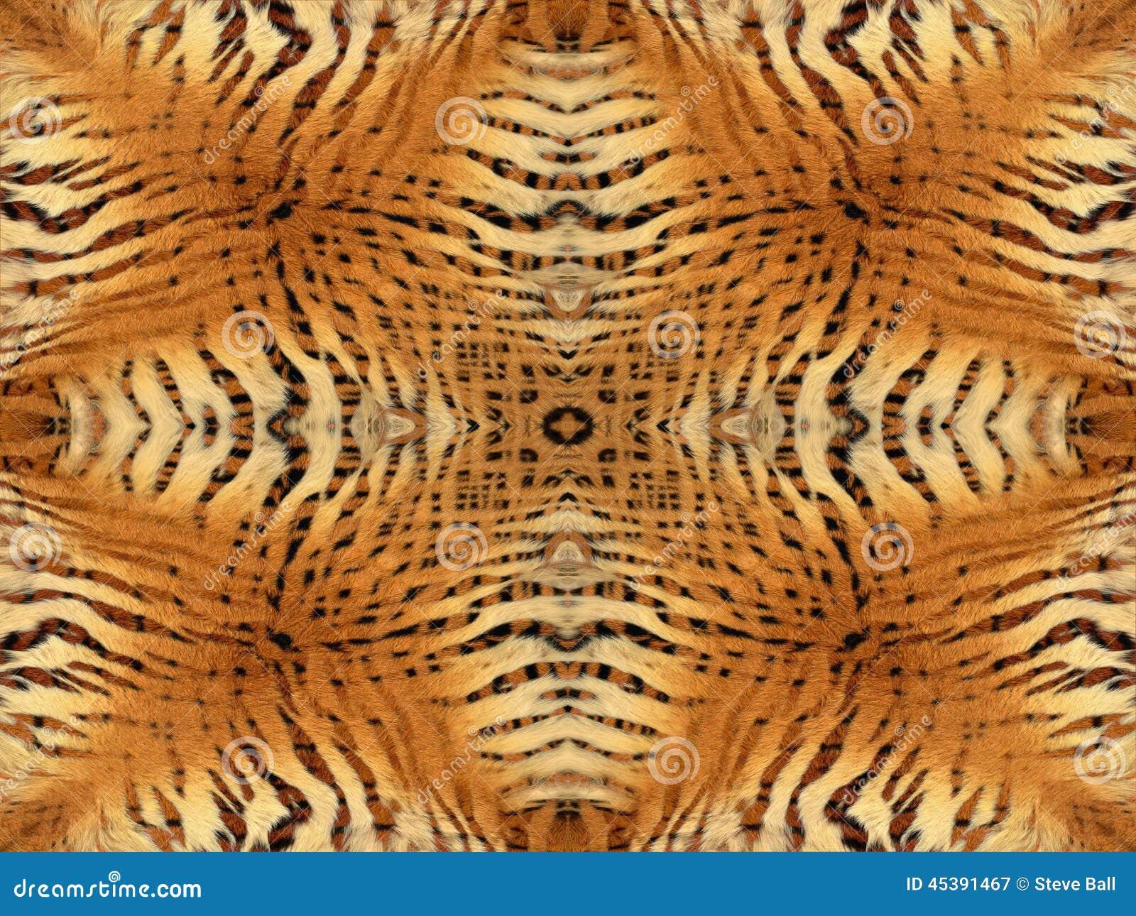 Tygrysi futerko wzór