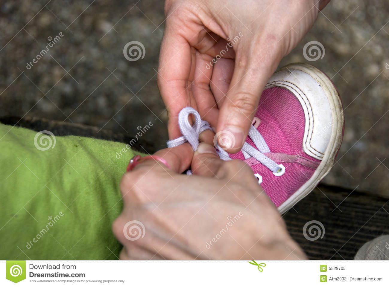 Tying baby shoes stock image. Image of foot, design, healthy - 5529705