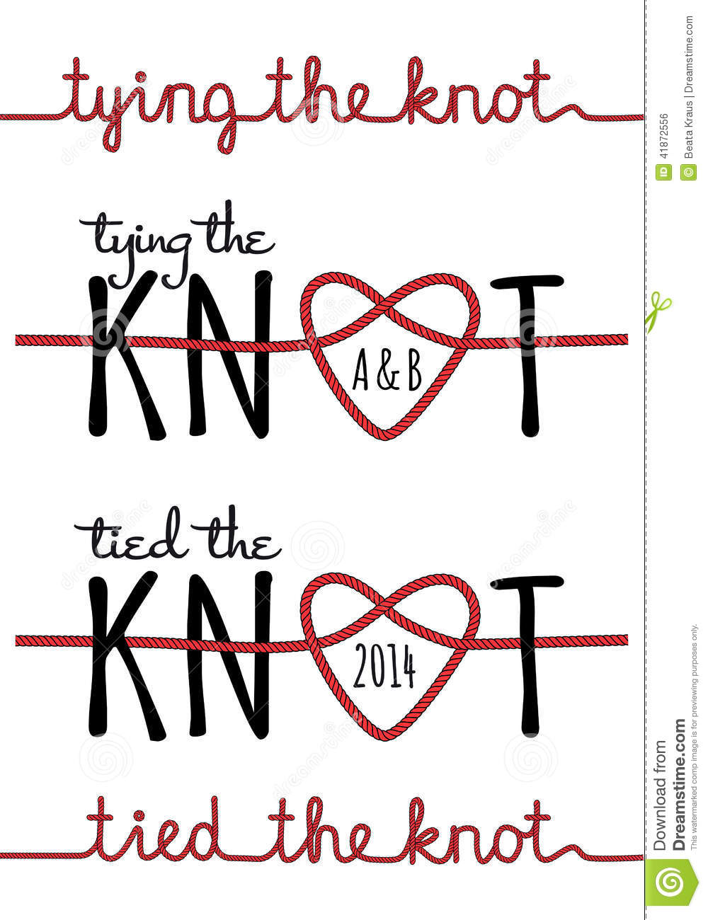 Tying The Knot, Vector Set Stock Vector - Image: 41872556