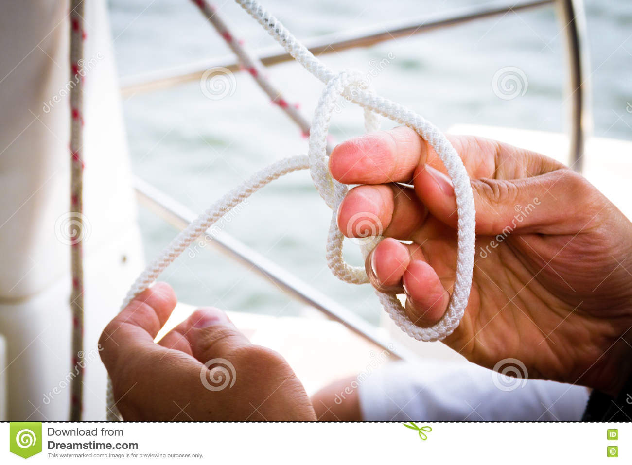 Tying A Sailor Knot Sailing School: Learning How To Tie