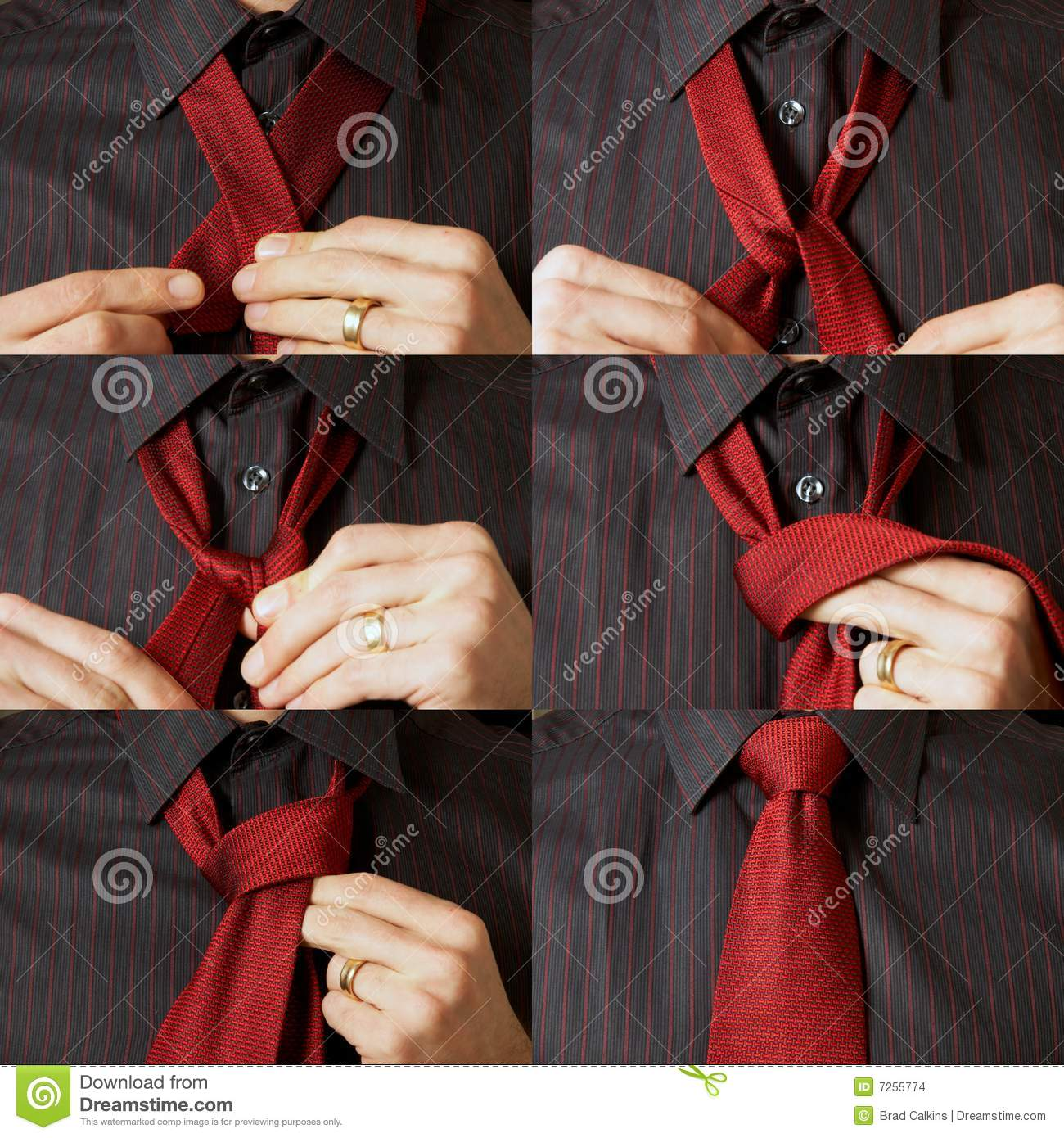 Tying A Tie Stock Photo Image Of Accessory Learn Necktie 7255774 How To Knot Windsor