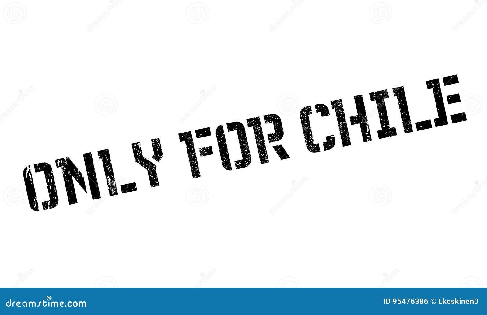 Tylko Dla Chile pieczątki