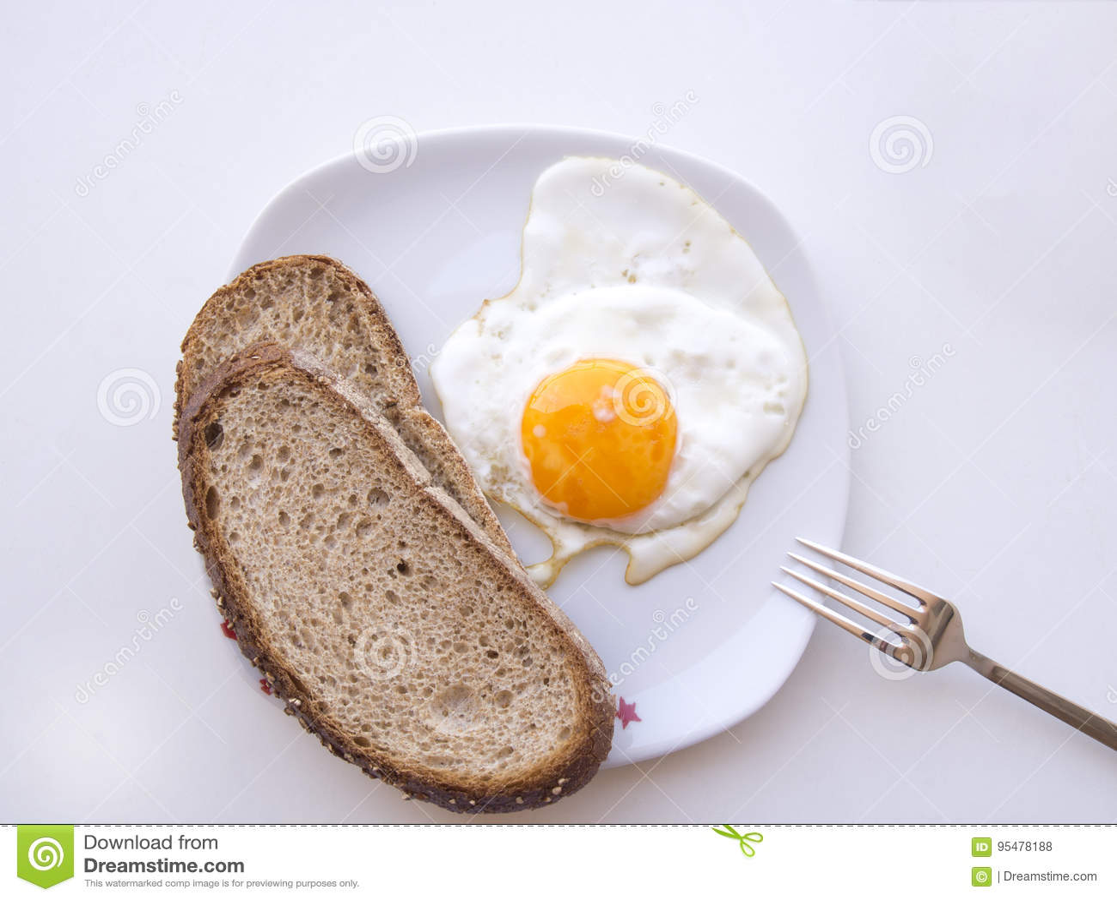 Tylko jeden jajko i dwa plasterka chleb