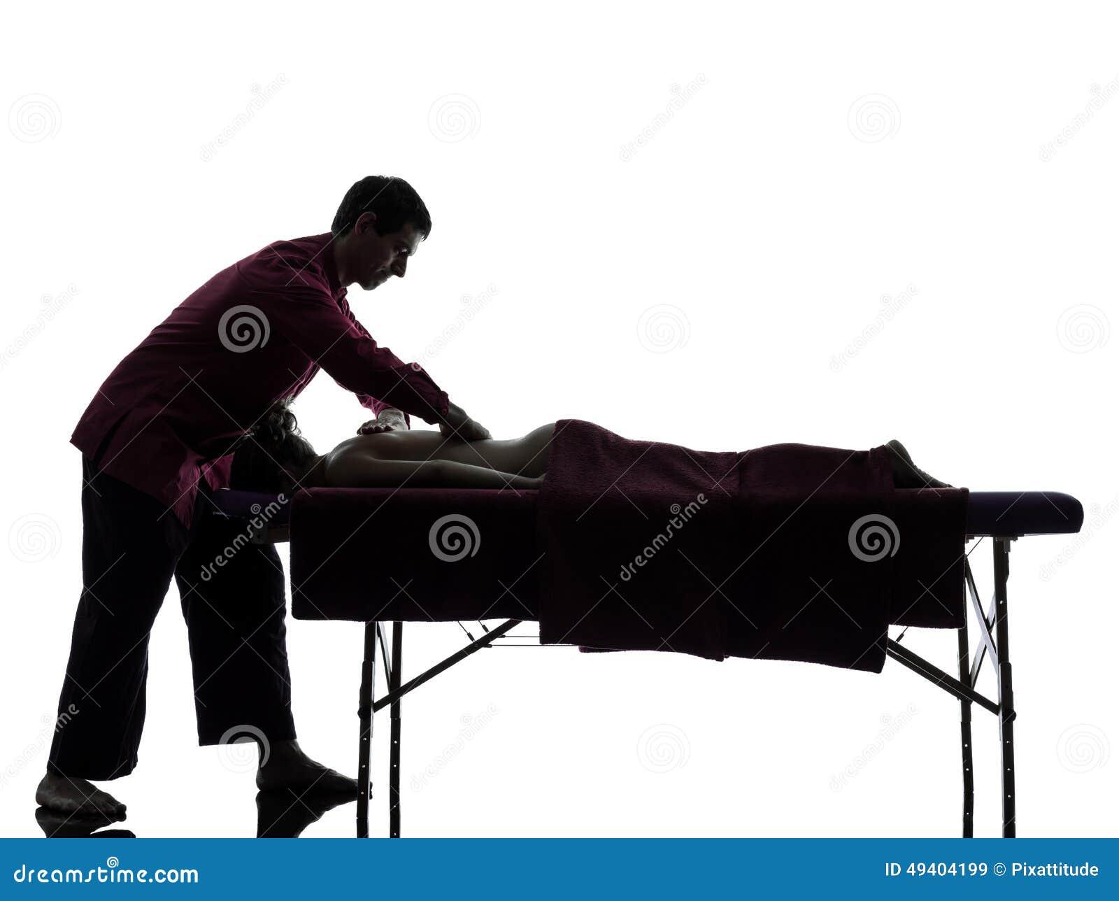 Tylna masaż terapii sylwetka