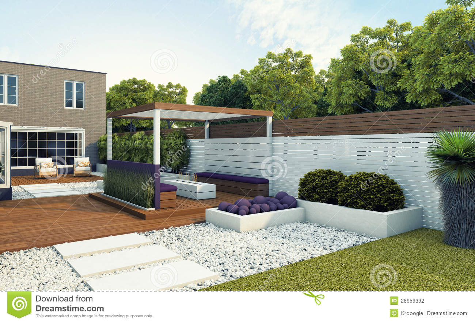 Tylny ogród