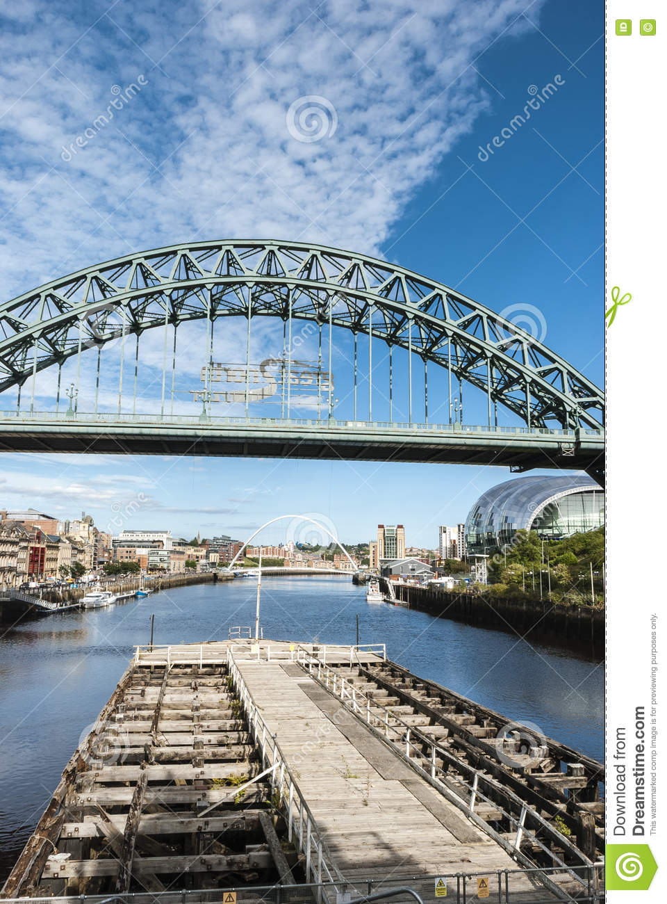 Tyne Bridge in Newcastle op de Tyne