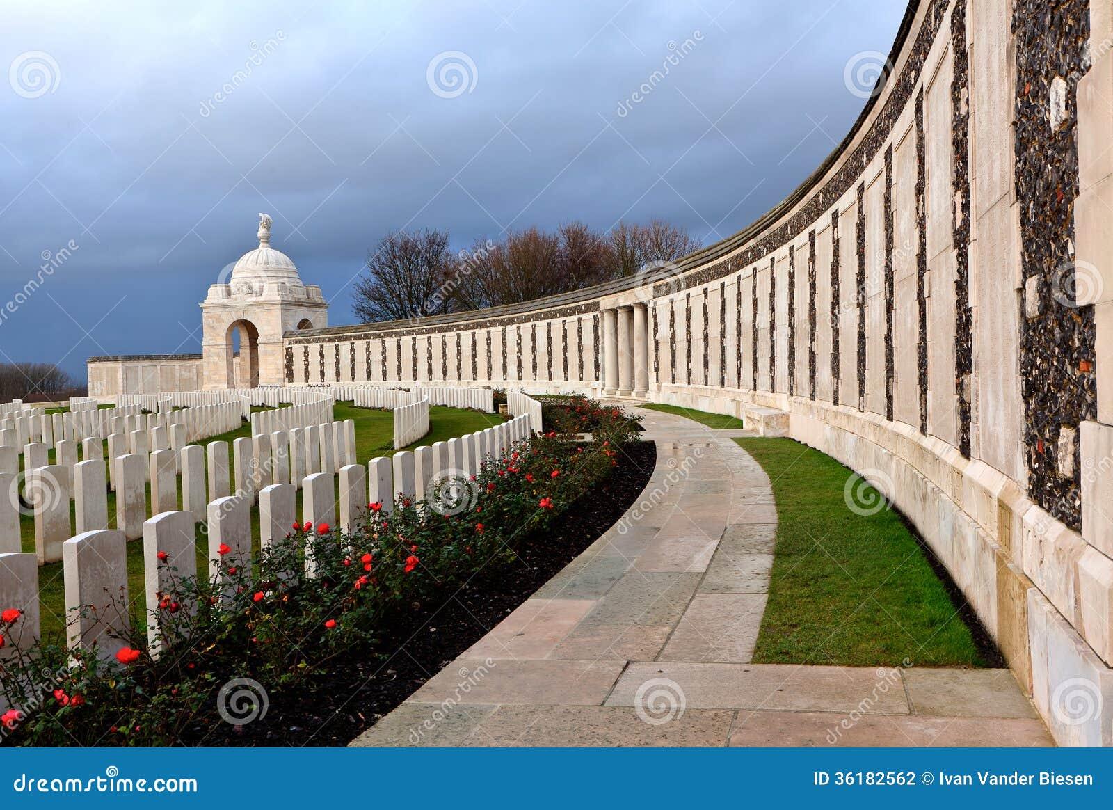 Tyne Cot Cemetery op de Gebieden van Vlaanderen
