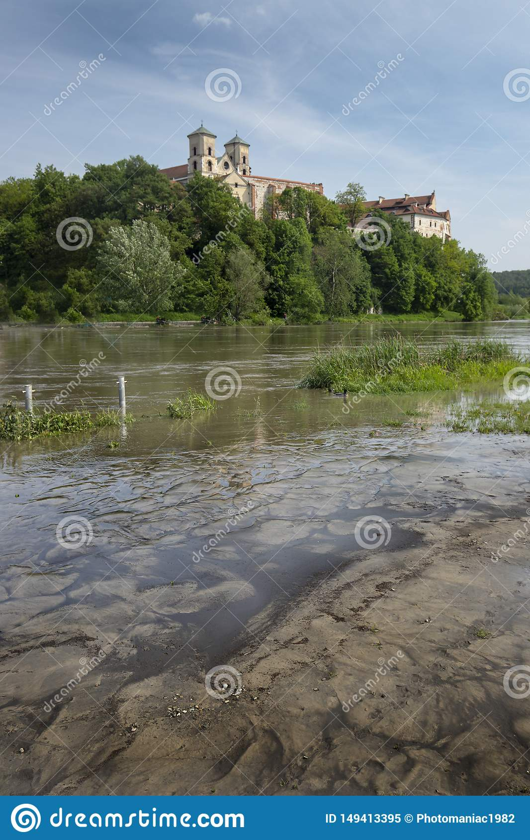 Tyniec kloster i Polen