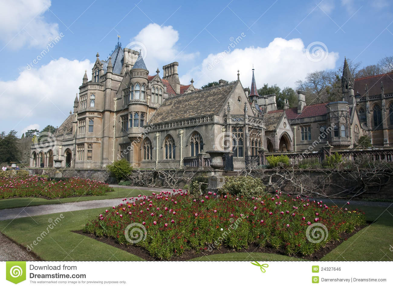 Tyntesfield Manor House stock photo. Image of english