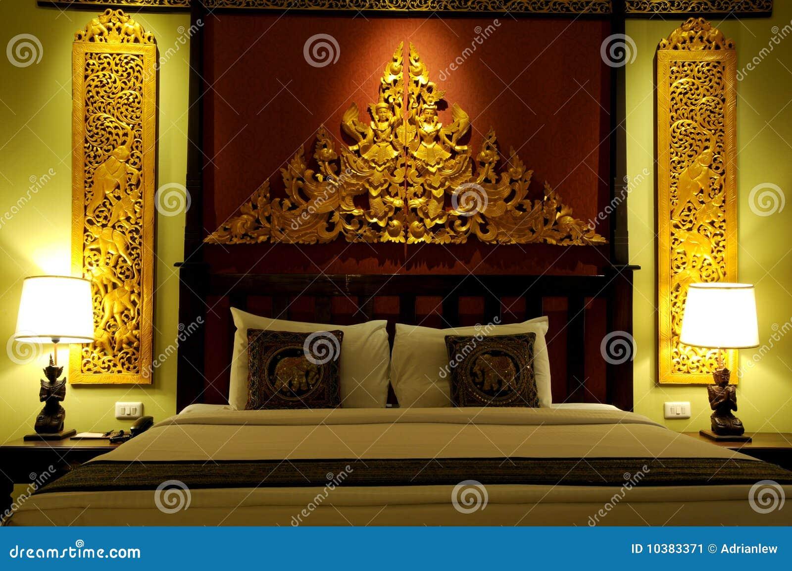 type asiatique de chambre coucher image stock image. Black Bedroom Furniture Sets. Home Design Ideas