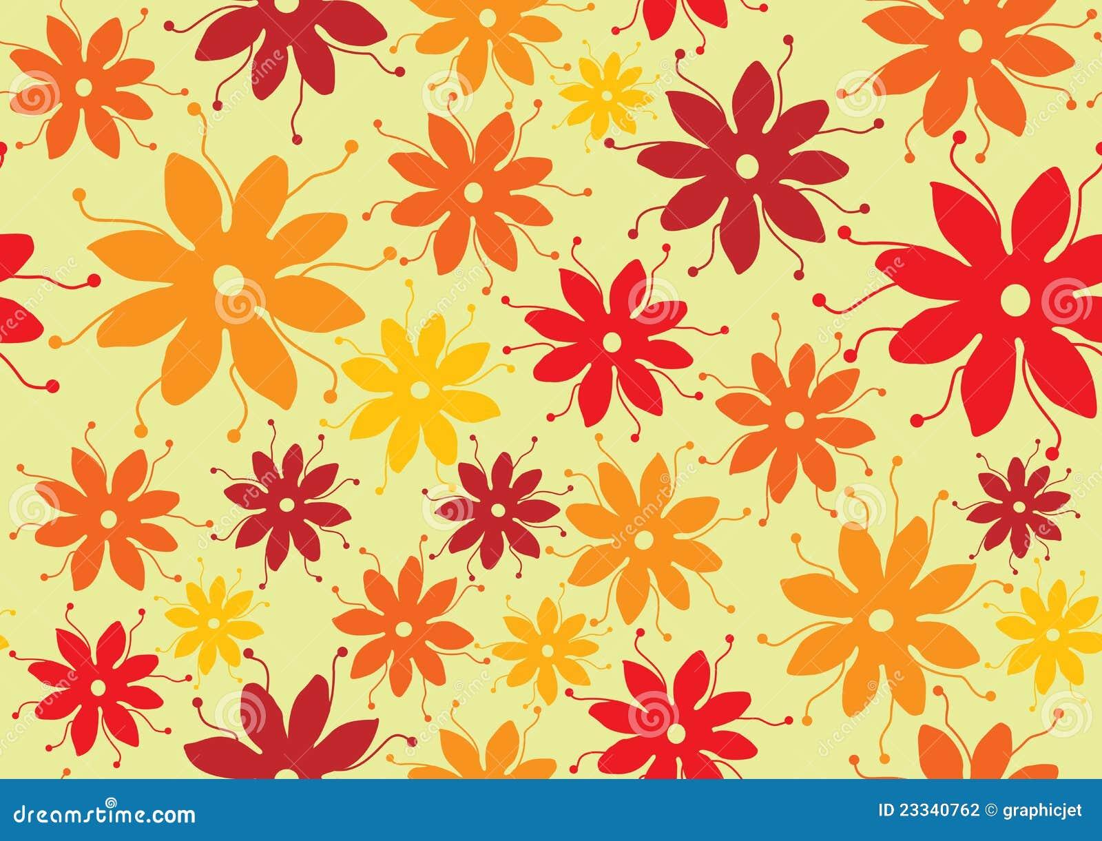 Type d 39 ann es 39 70 de configuration de fleur photographie stock imag - Papier peint sixties ...