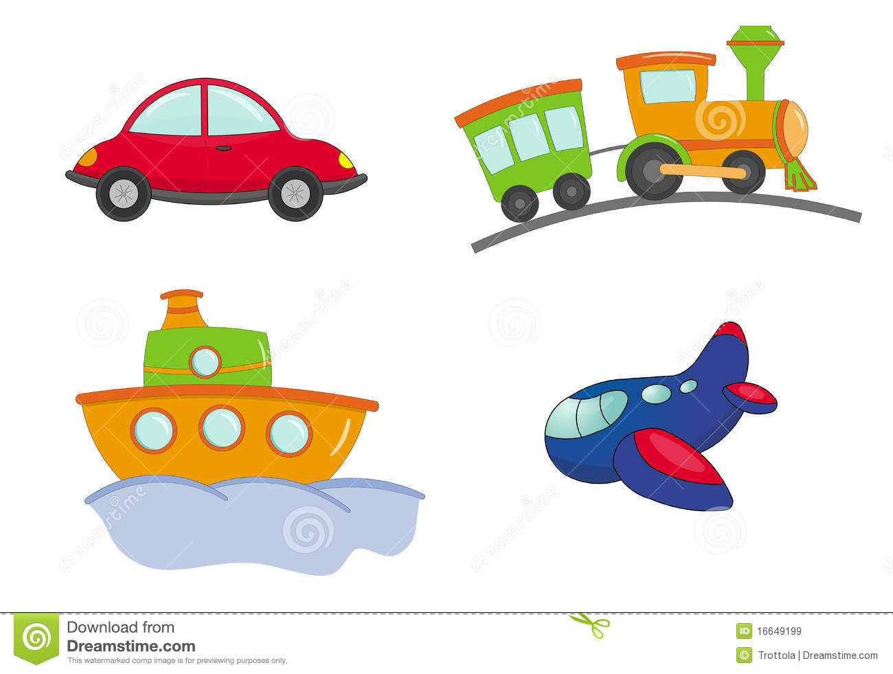 Type de dessin anim de transport images libres de droits image 16649199 - Dessin de transport ...