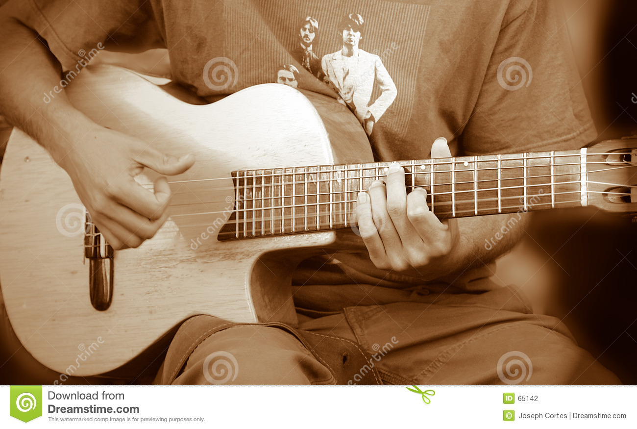 Download Type de guitare photo stock. Image du jeans, roche, live - 65142