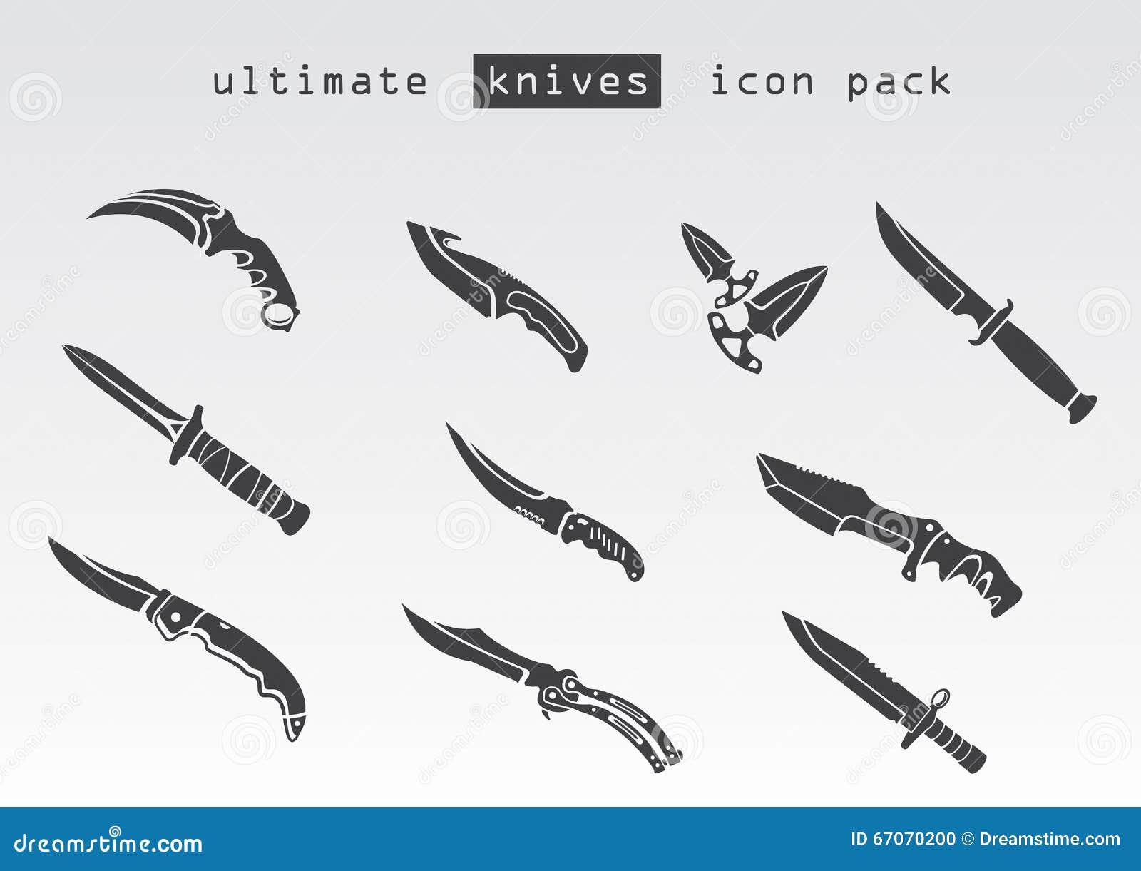 Type diff rent de couteaux illustration stock image for Type de couteau cuisine