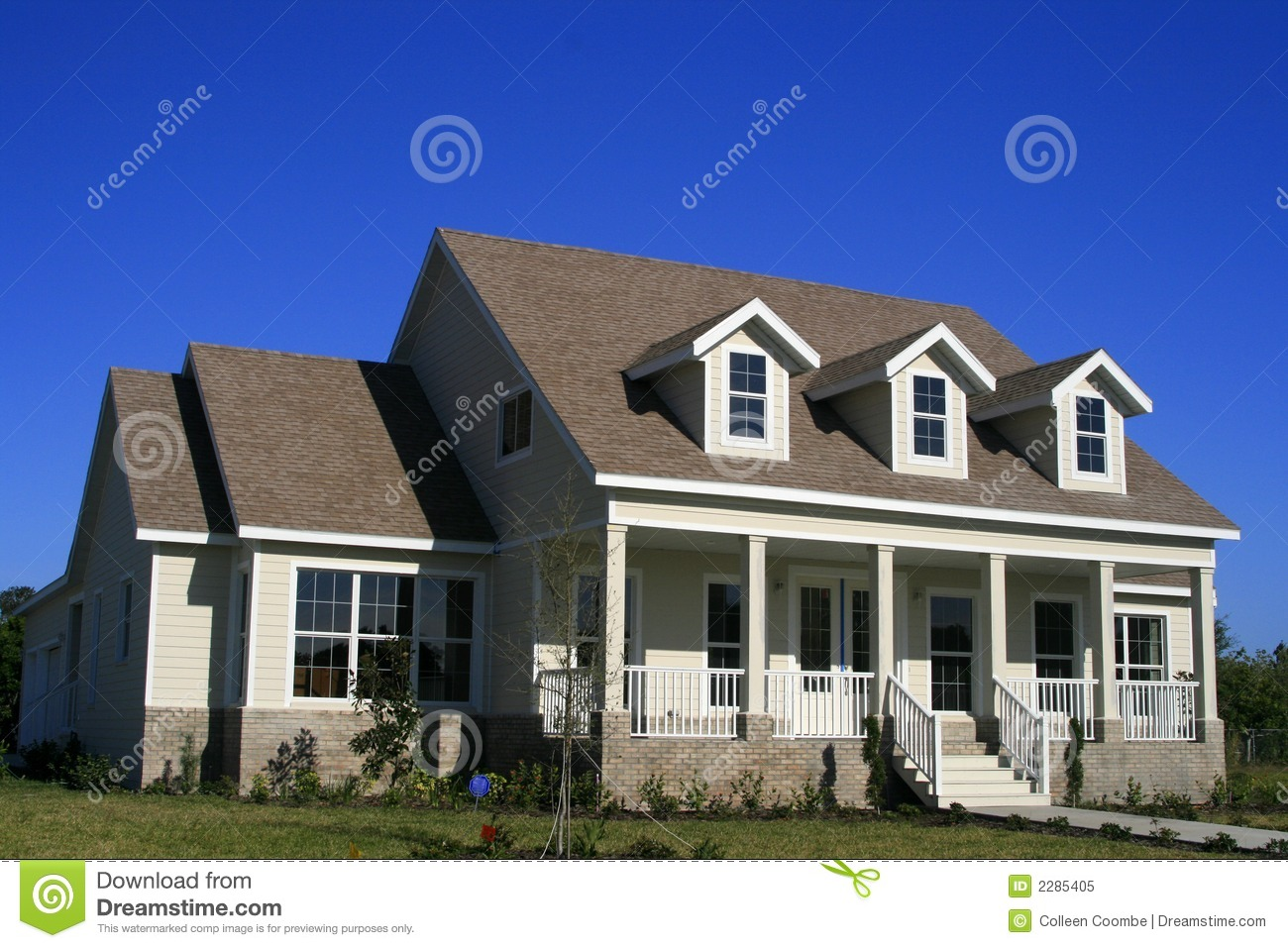 Type maison am ricain de pays image stock image 2285405 for Type maison