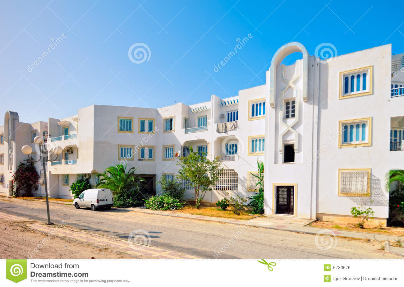 Type moderne de maison arabe photo stock image 6733676 for Architecture maison tunisie moderne
