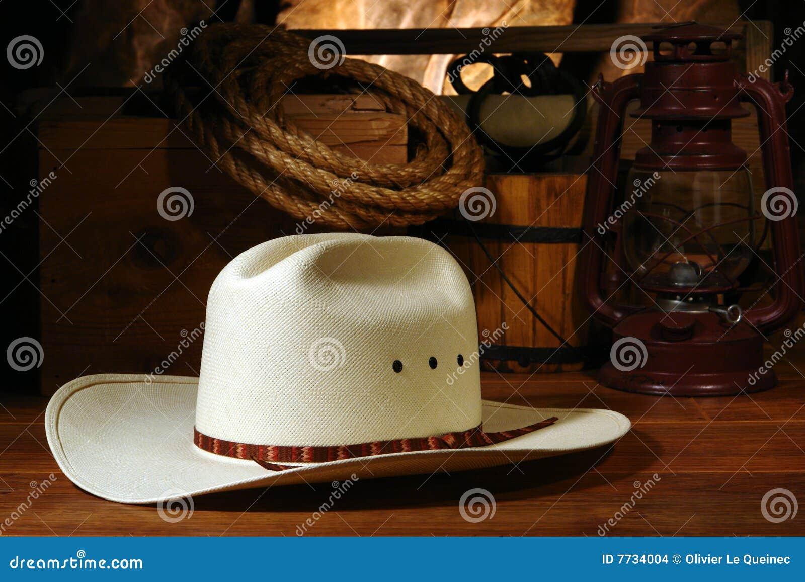 Type occidental de rodéo de chapeau de cowboy
