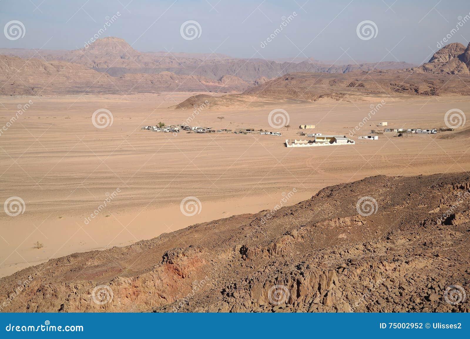 Type op woestijn en bergen, Egypte