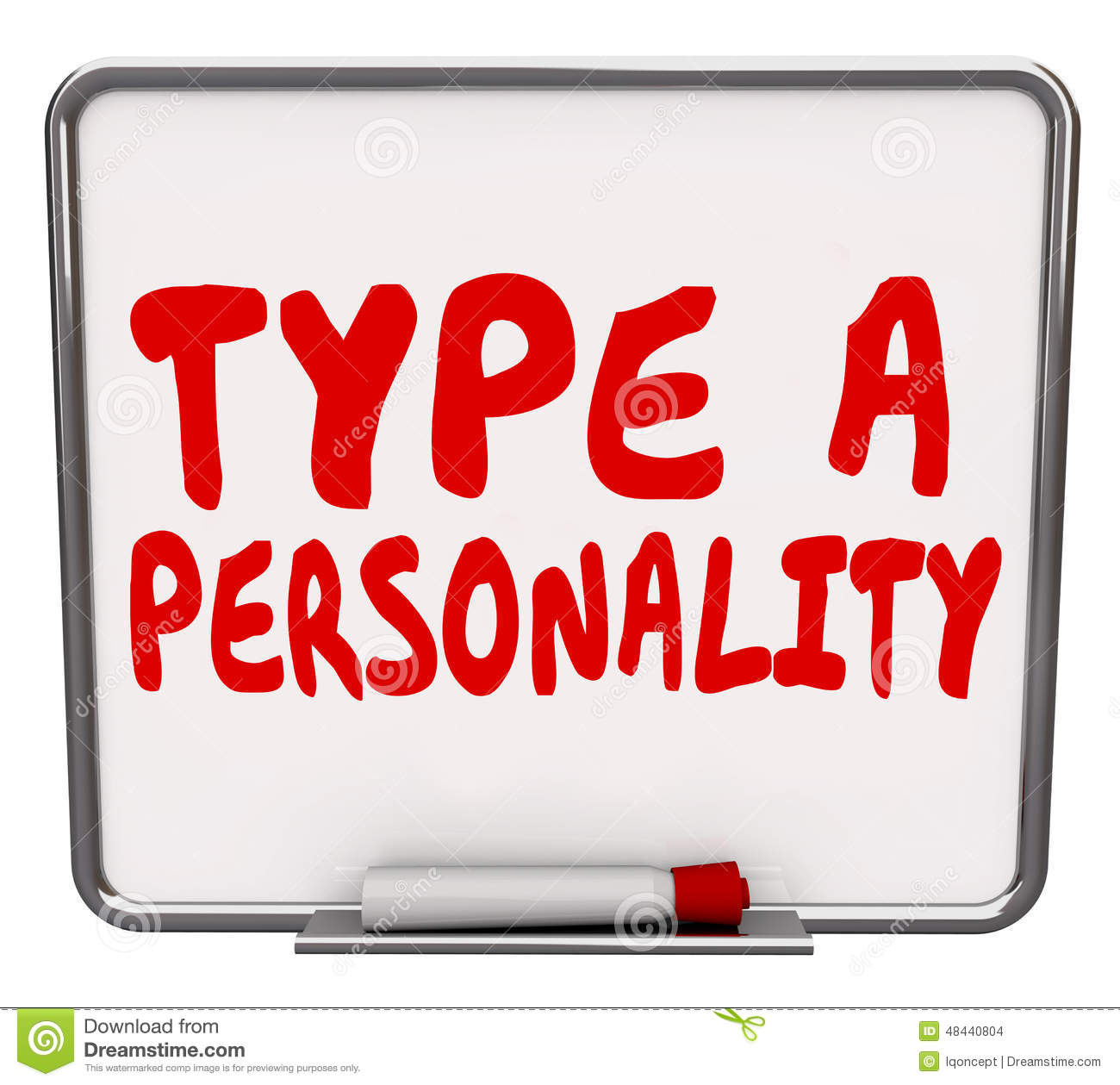 Type A Personality Dry Erase Board Test Evaluation Result