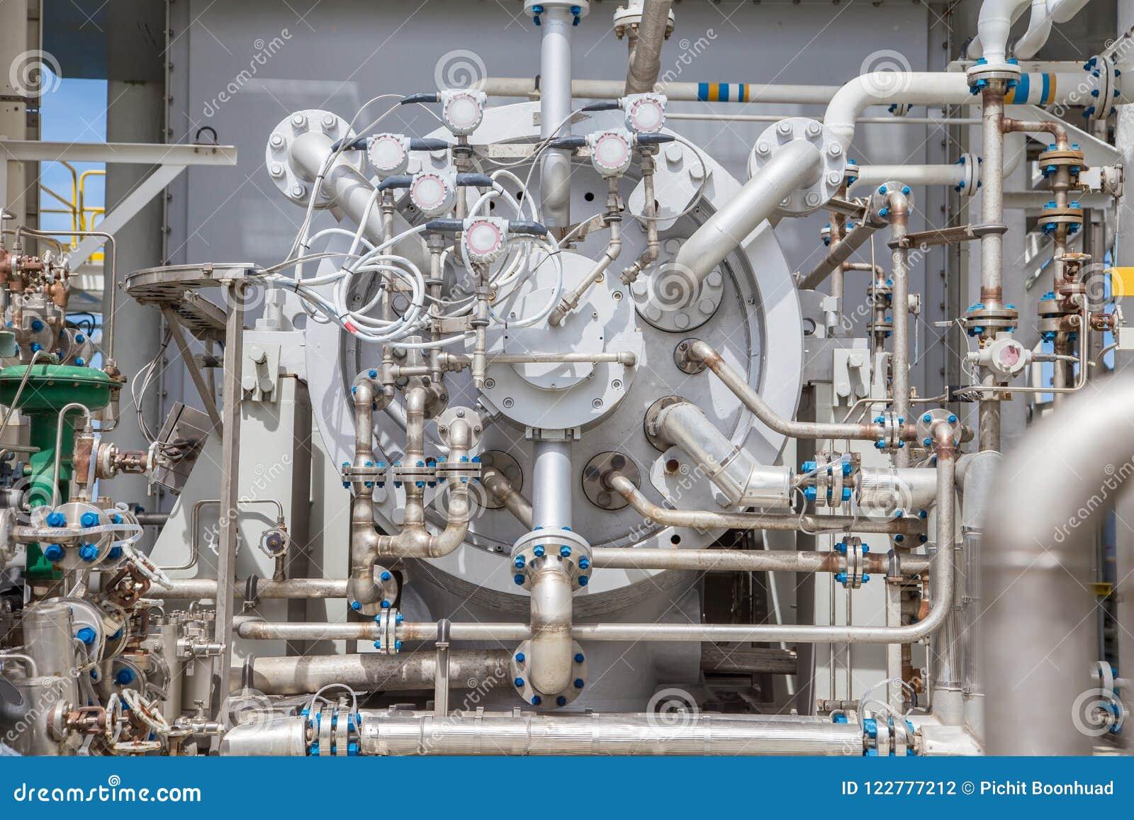 Type van de compressor het centrifugaal en multistadium van de gasturbine van van gascompressor en leidingen het gebruik van het