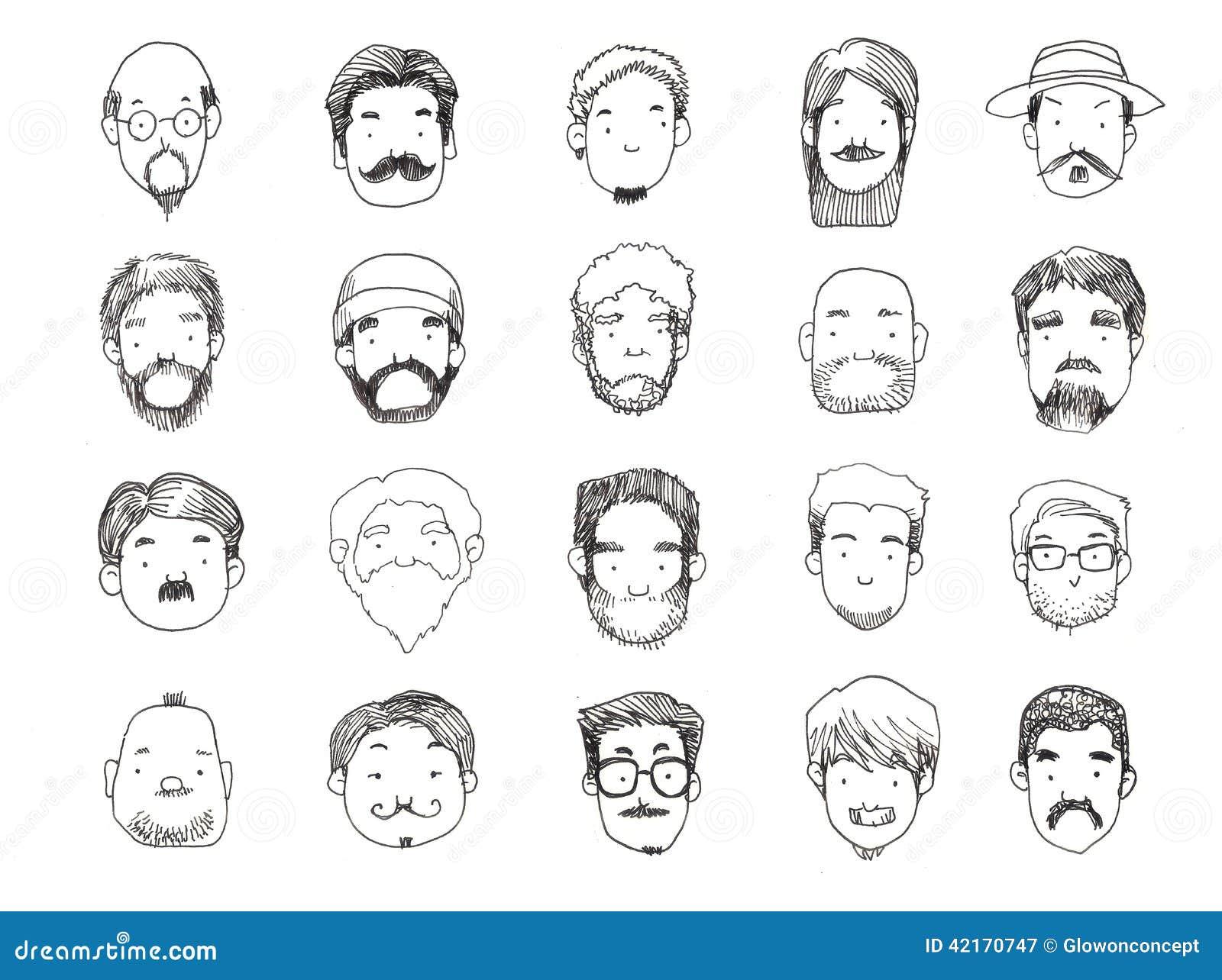 types avec l 39 illustration de barbe illustration stock illustration 42170747. Black Bedroom Furniture Sets. Home Design Ideas
