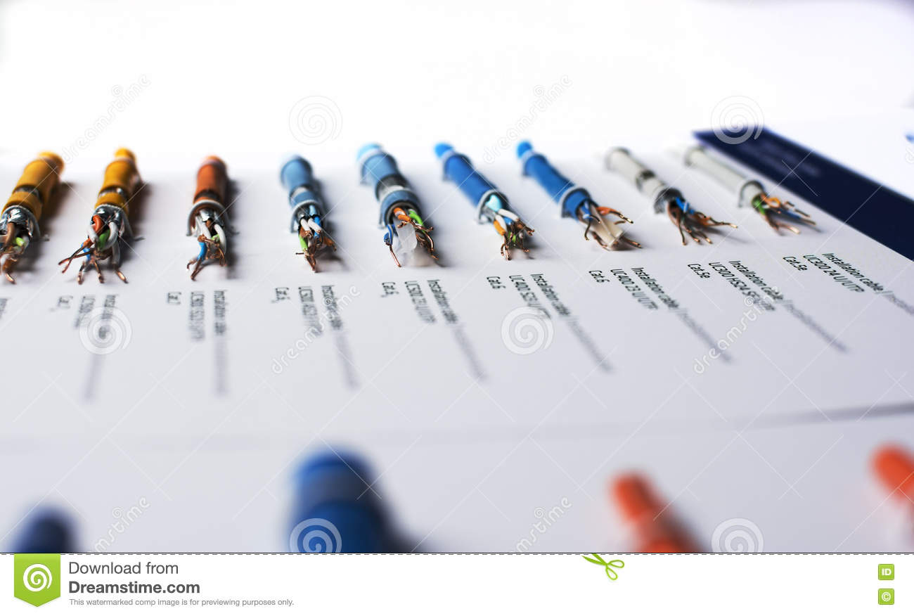 Types of data cable stock image. Image of gigabit, bunch - 72987257