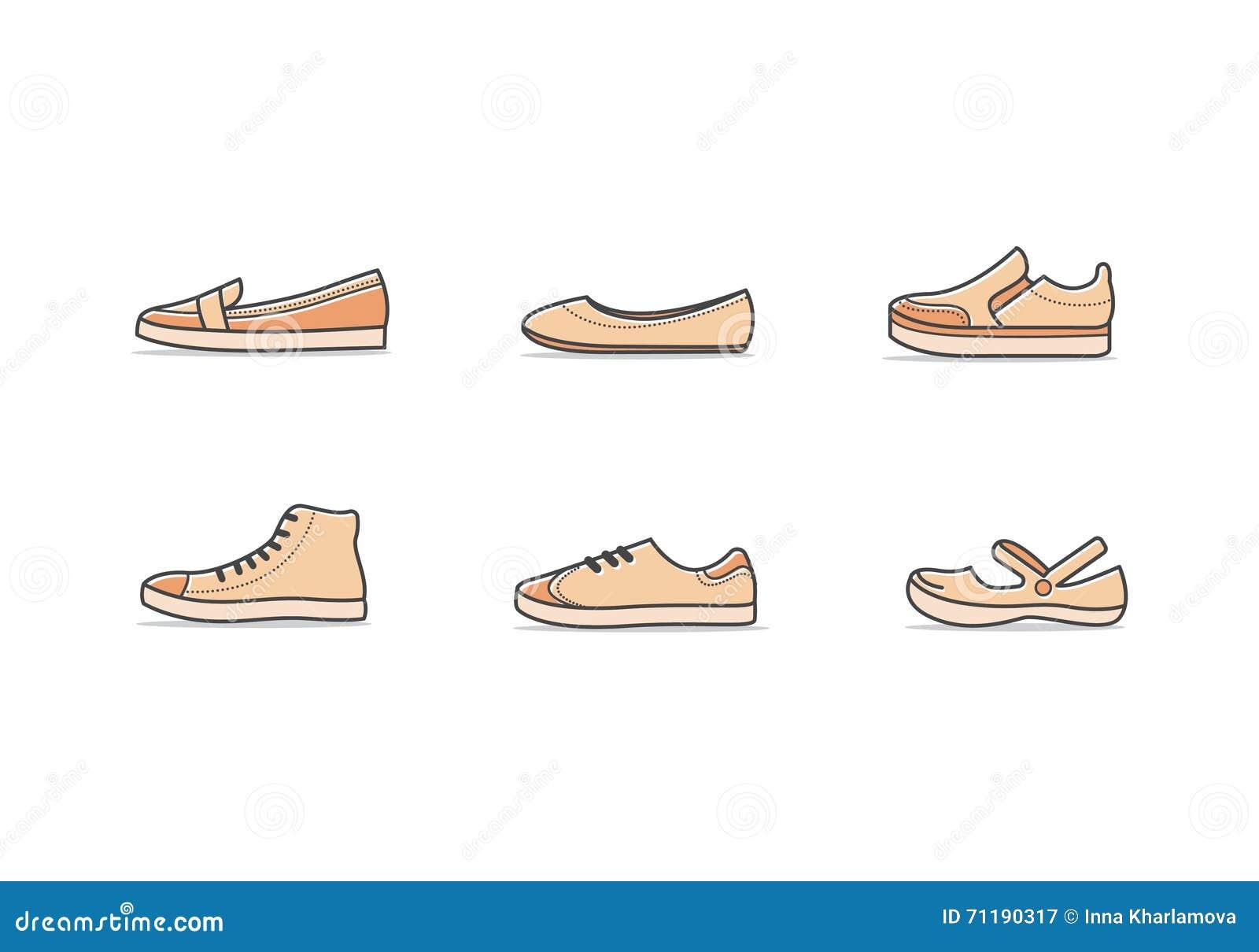 Vecteur Femme Illustration Types De Chaussures zMSUVp