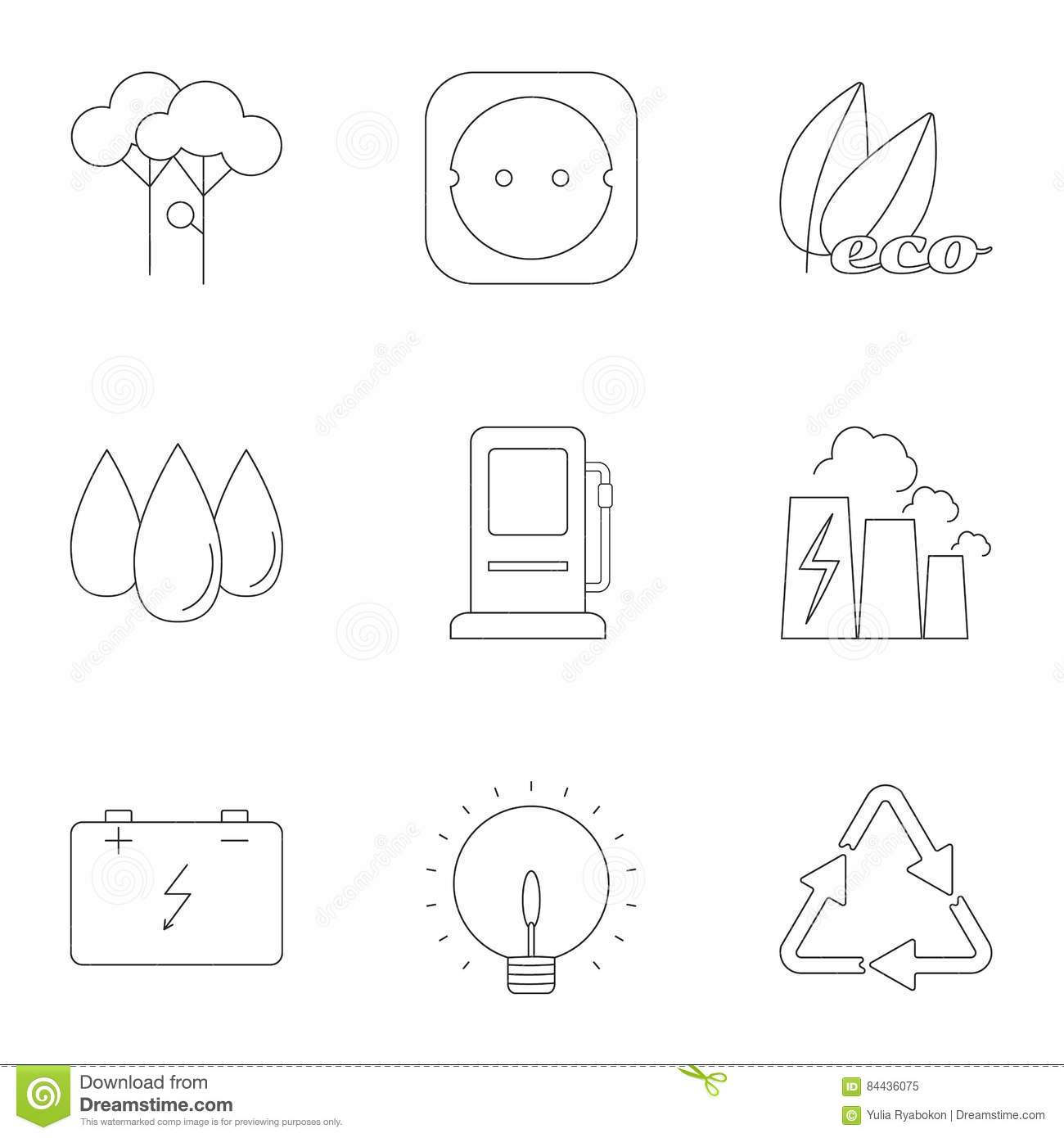 energy types vector illustration