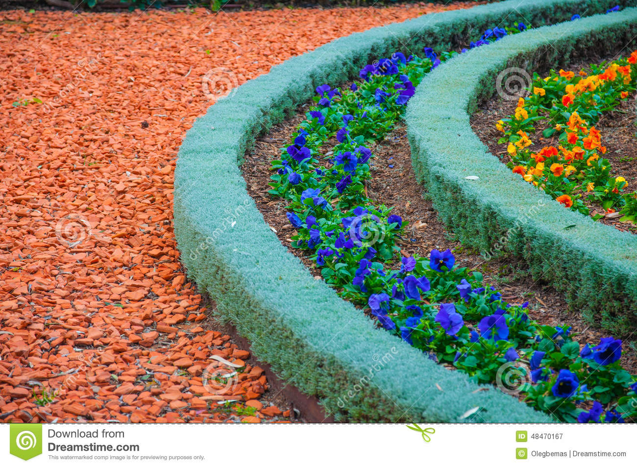 Types Of Landscaping And Decorations Garden Paths Stock Image