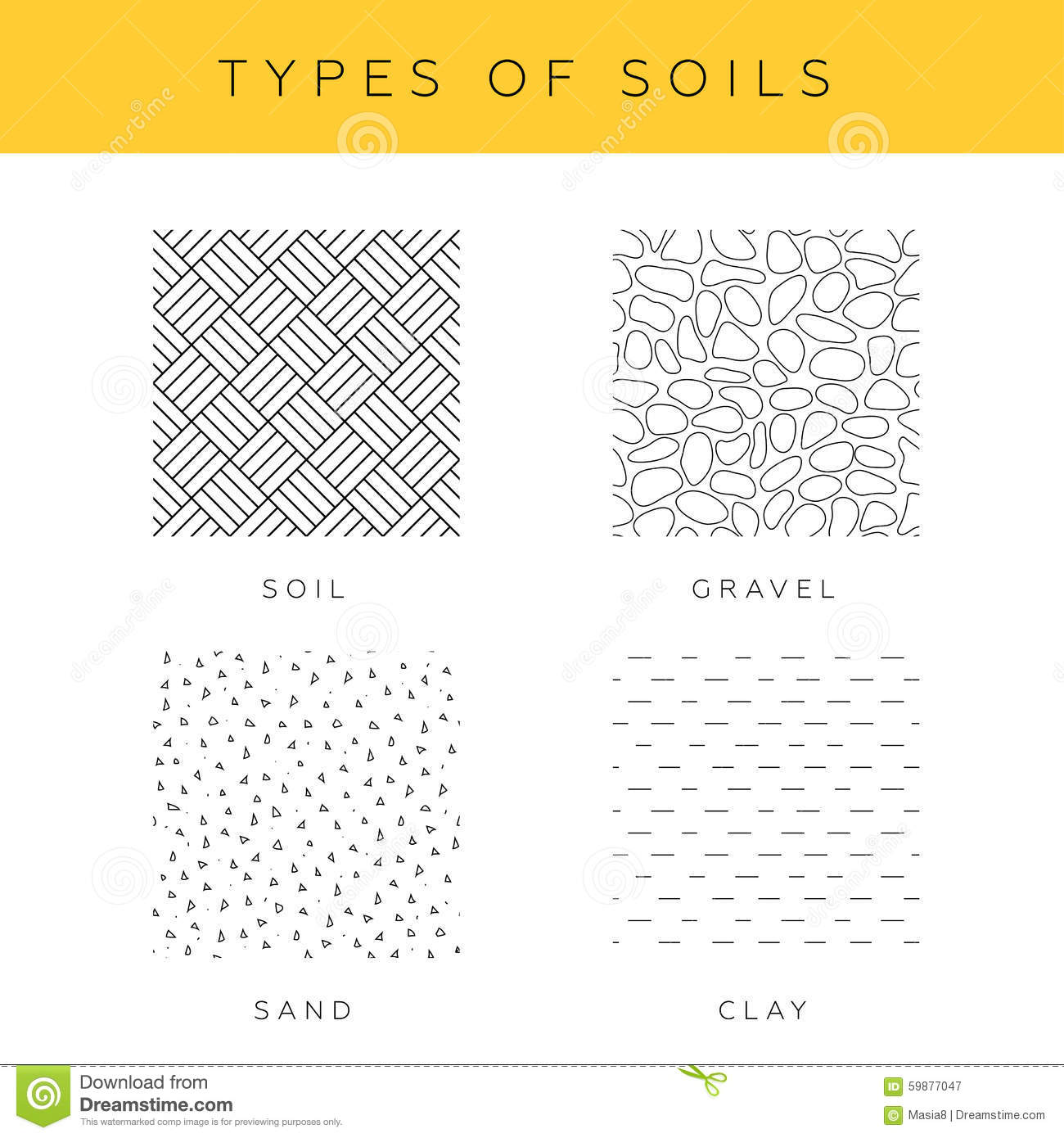 Types of soils stock illustration. Illustration of pattern - 59877047
