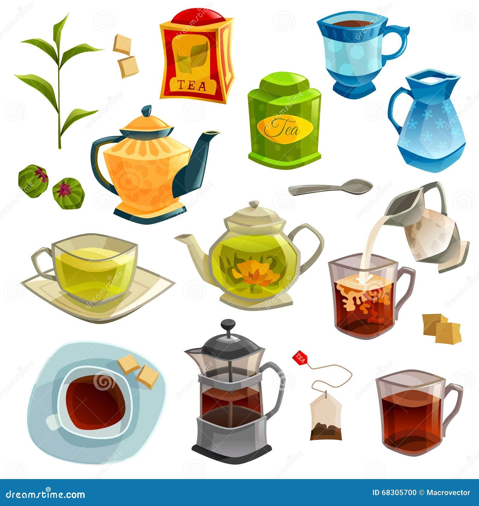 Vector Cartoon Tea With Teabag Cartoon Vector