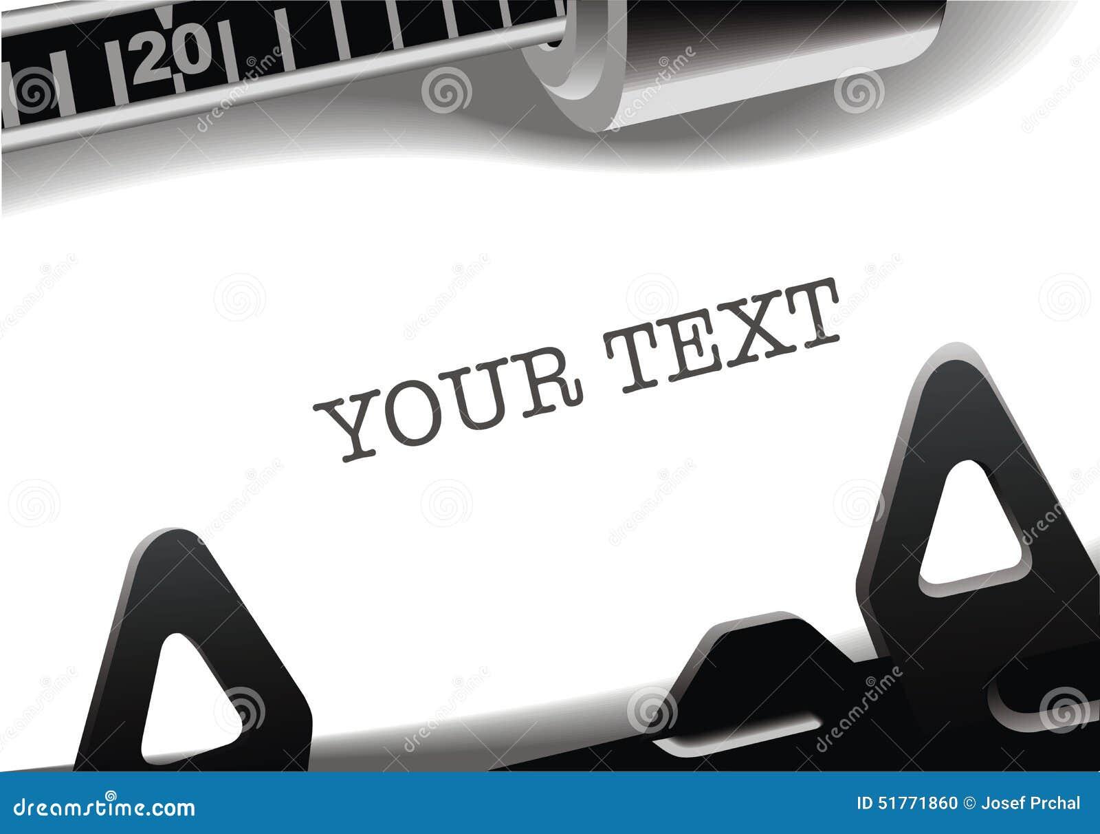 Typewriter background