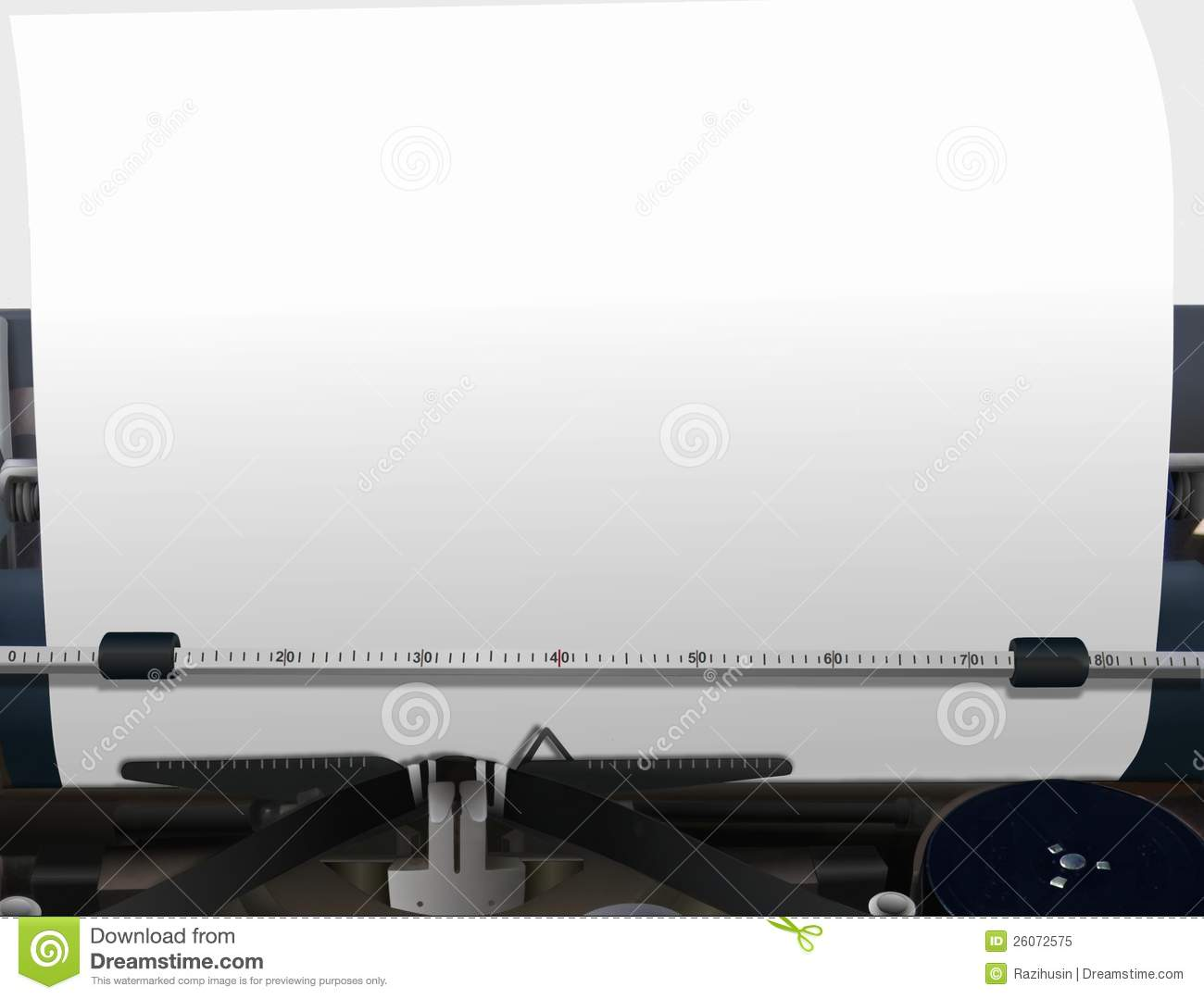 Typewriter With Blank Paper Royalty Free Stock Photo - Image: 26072575
