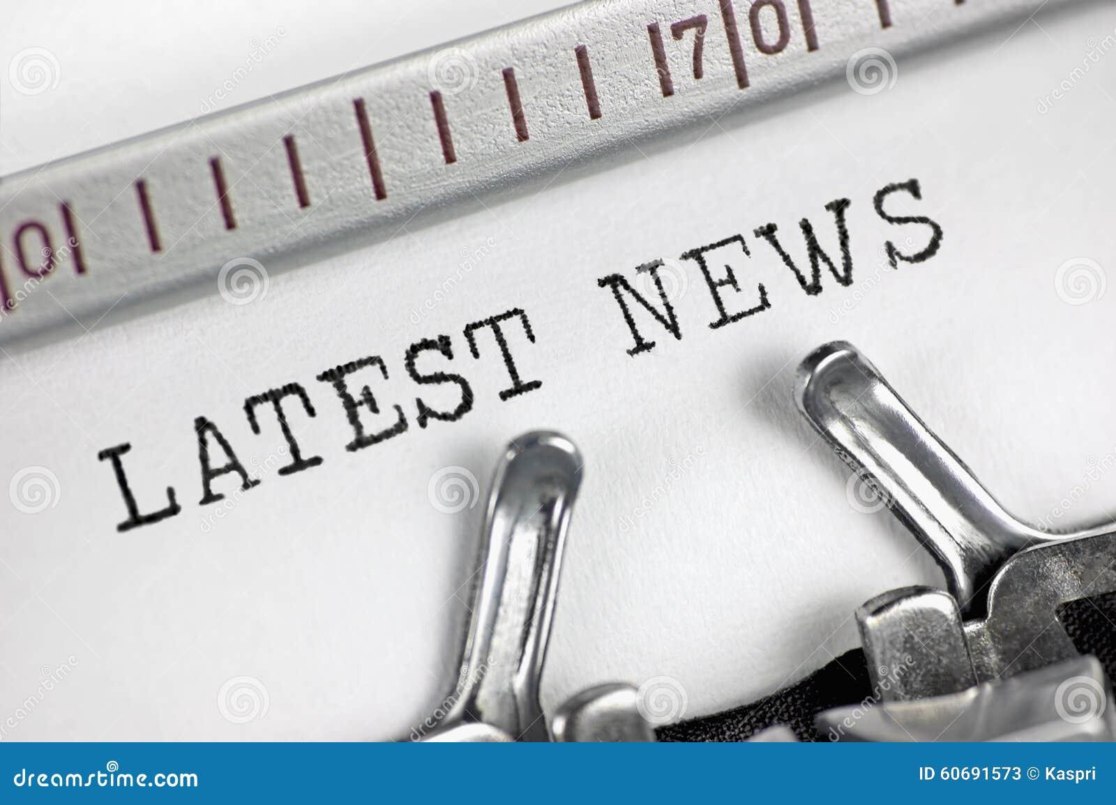 News Detail: Typewriter Detailed Macro Closeup Typing Text Latest News