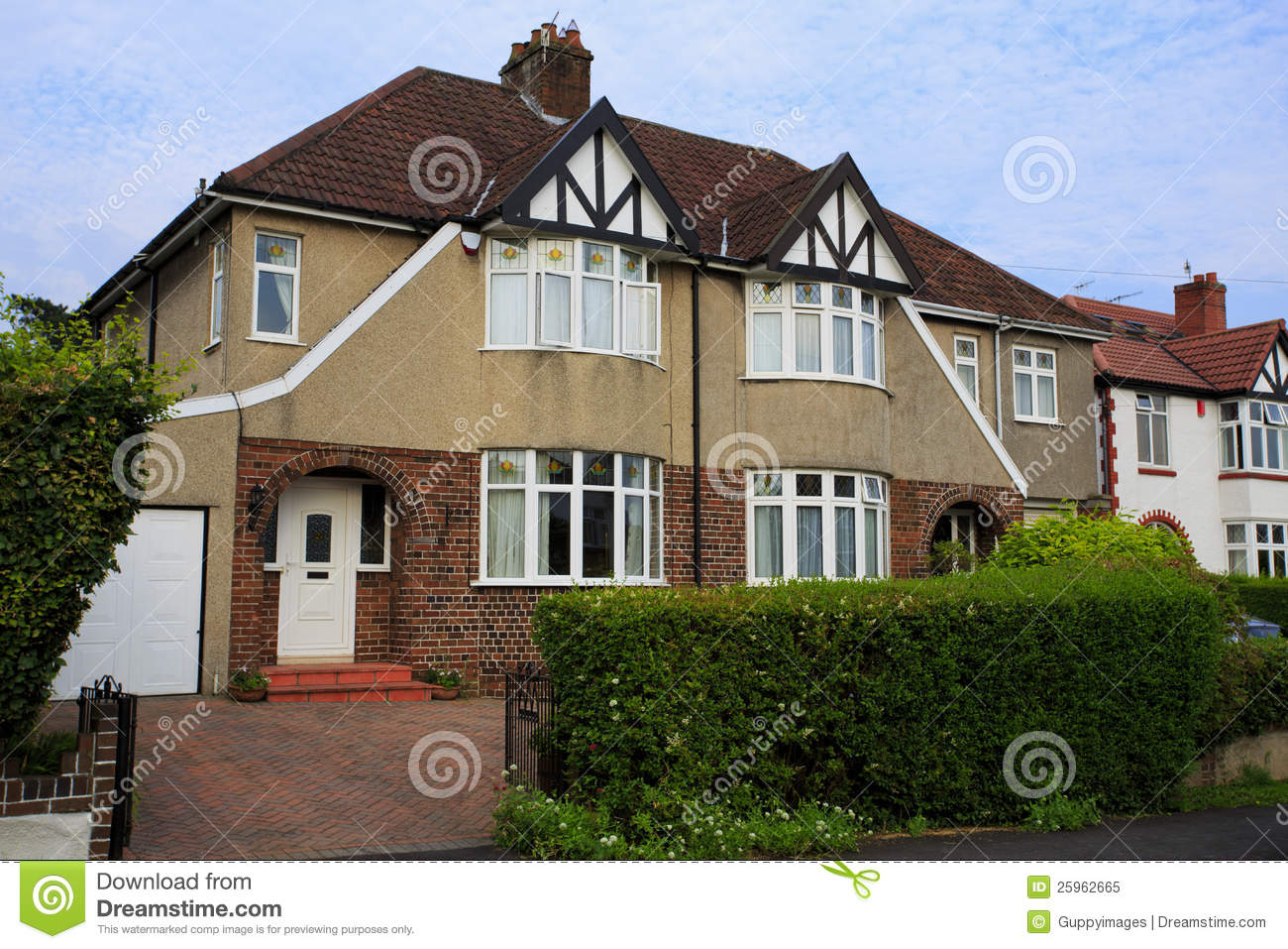 Typical 1930s pebble dashed semi detatched house royalty for Before after exterior 1930