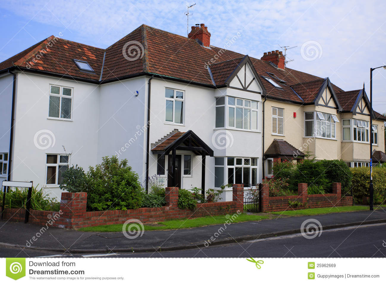 Typical 1930s Semi Detatched House Stock Image Image
