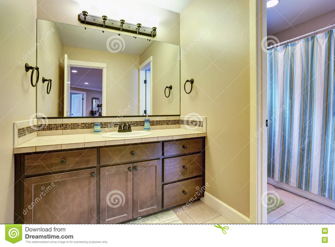 Typical American Bathroom Interior Design Stock Photo Image Of Renovated Indoor 75666900
