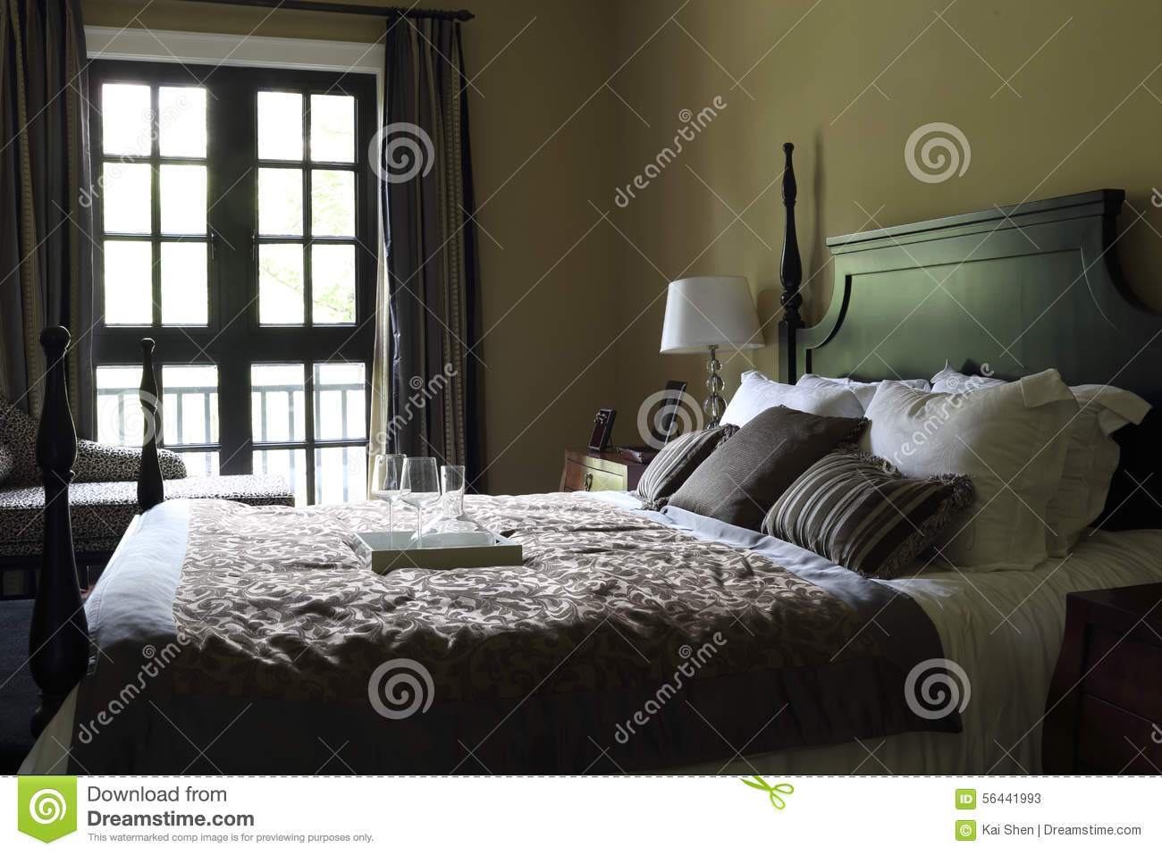 the typical american bedroom stock photo image 56441993. Black Bedroom Furniture Sets. Home Design Ideas