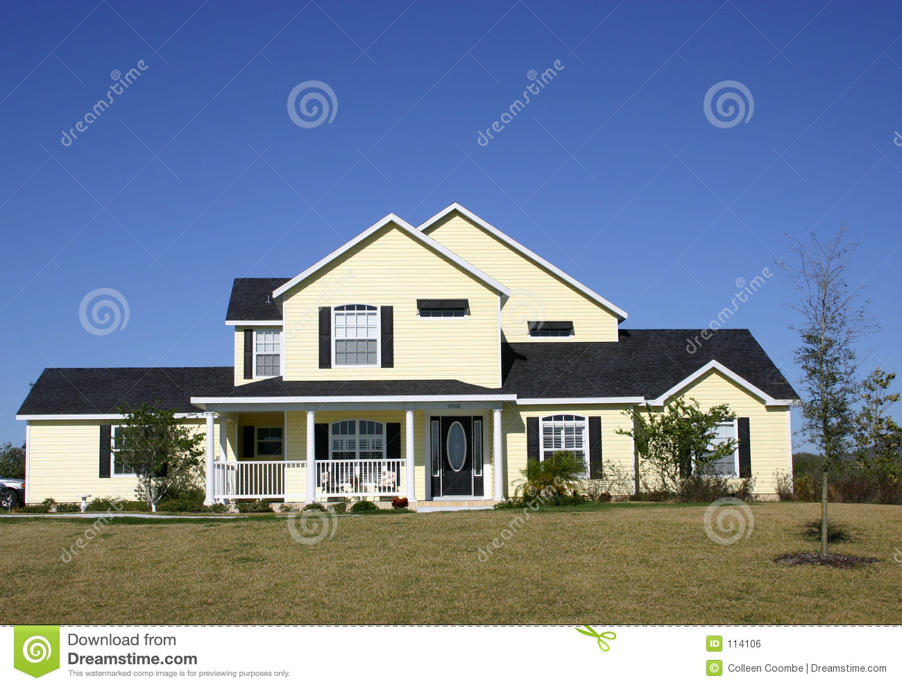 Typical american home stock photo image of suburbs farm for Americanhome com