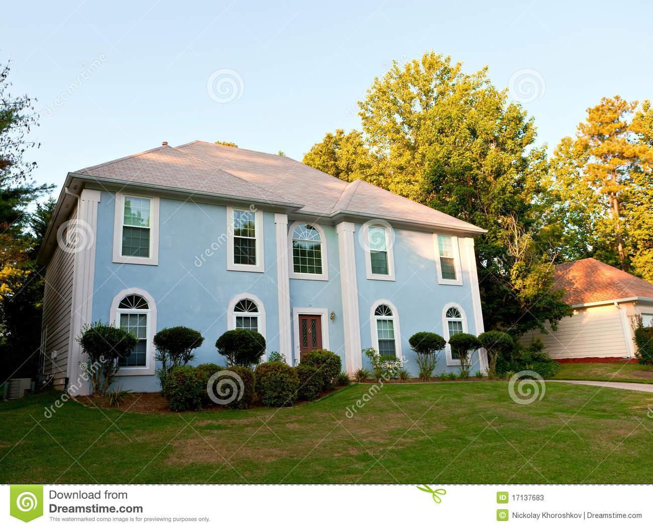 Download Typical american house stock image. Image of grass, rent - 17137683