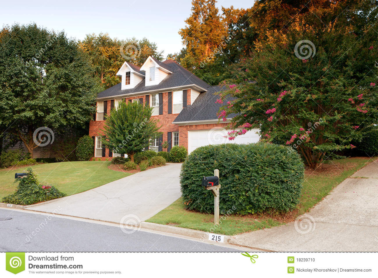 Download Typical american house stock photo. Image of sale, realtor - 18239710