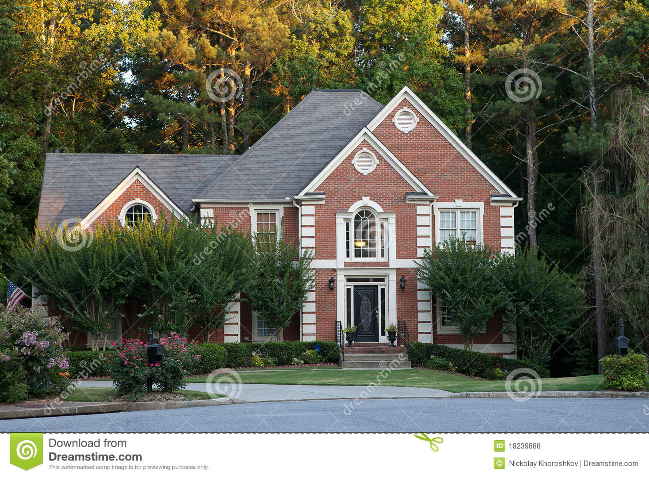 Typical american house stock photo image of typical - Tipica casa americana ...