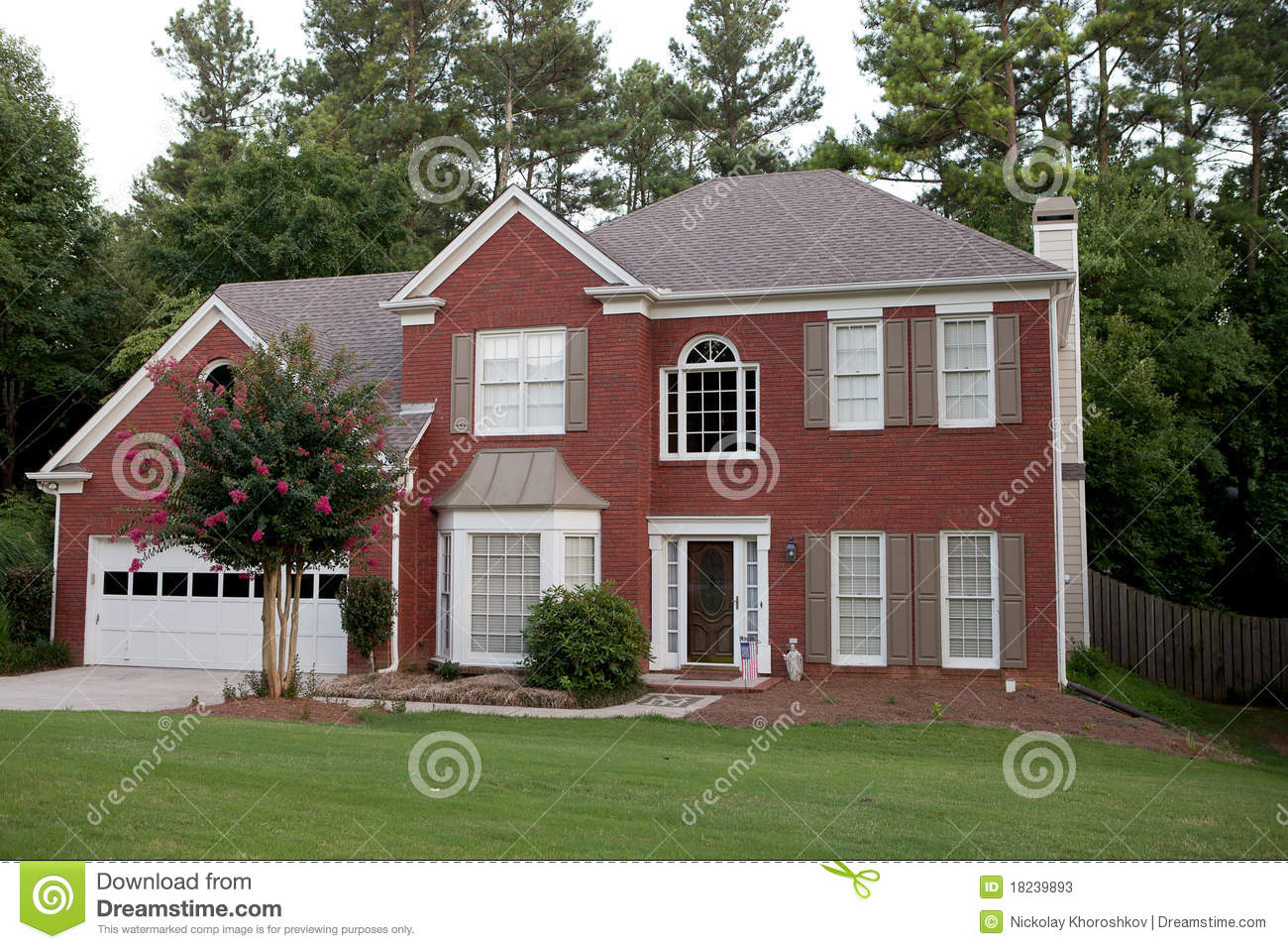 Download Typical american house stock image. Image of realestate - 18239893