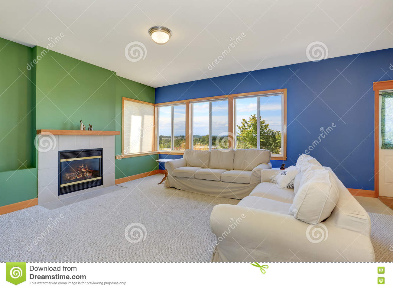 Typical american living room design stock photo image for Living room designs usa