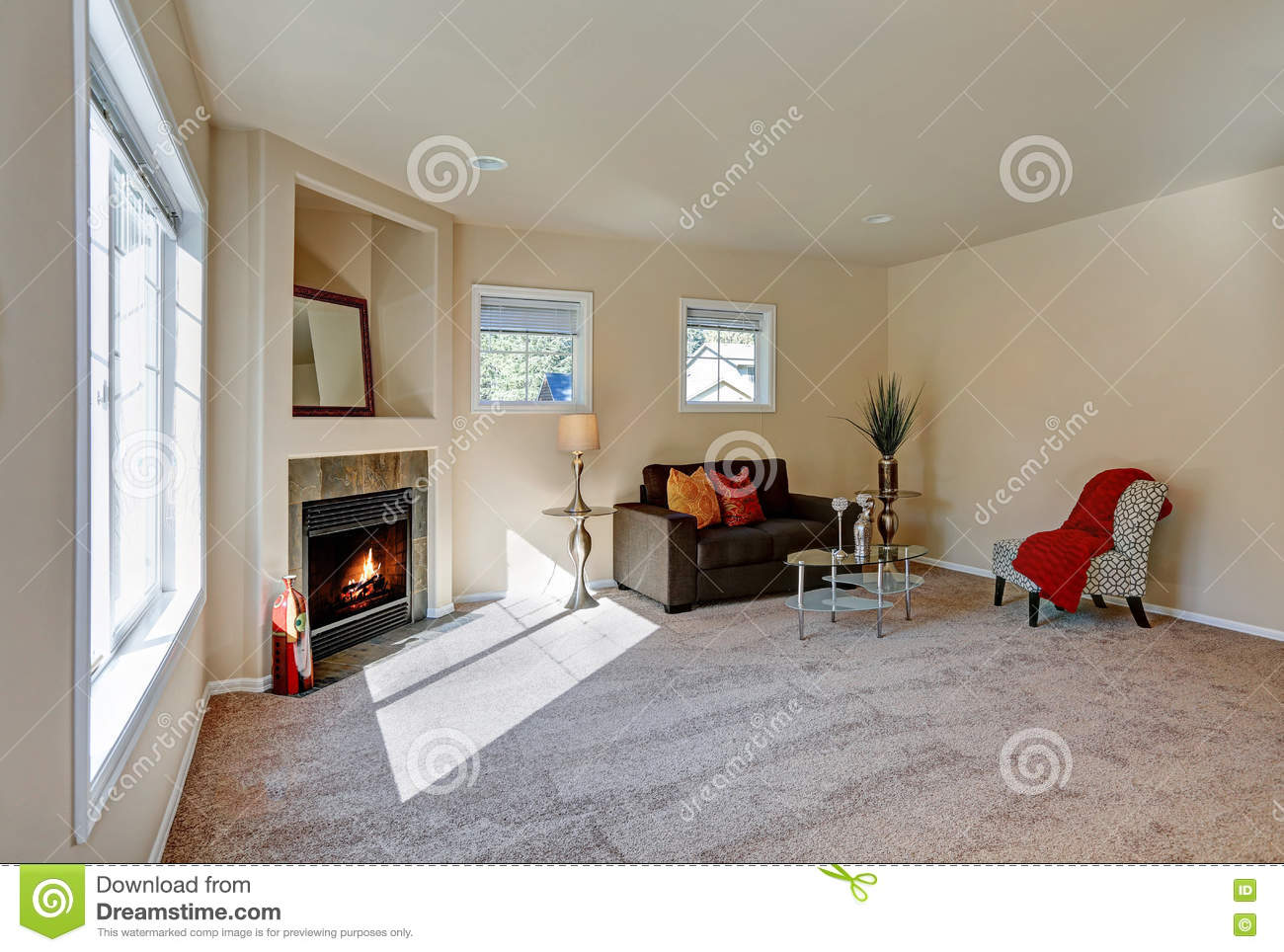 Typical american living room interior design stock photo - The elephant in the living room full movie ...