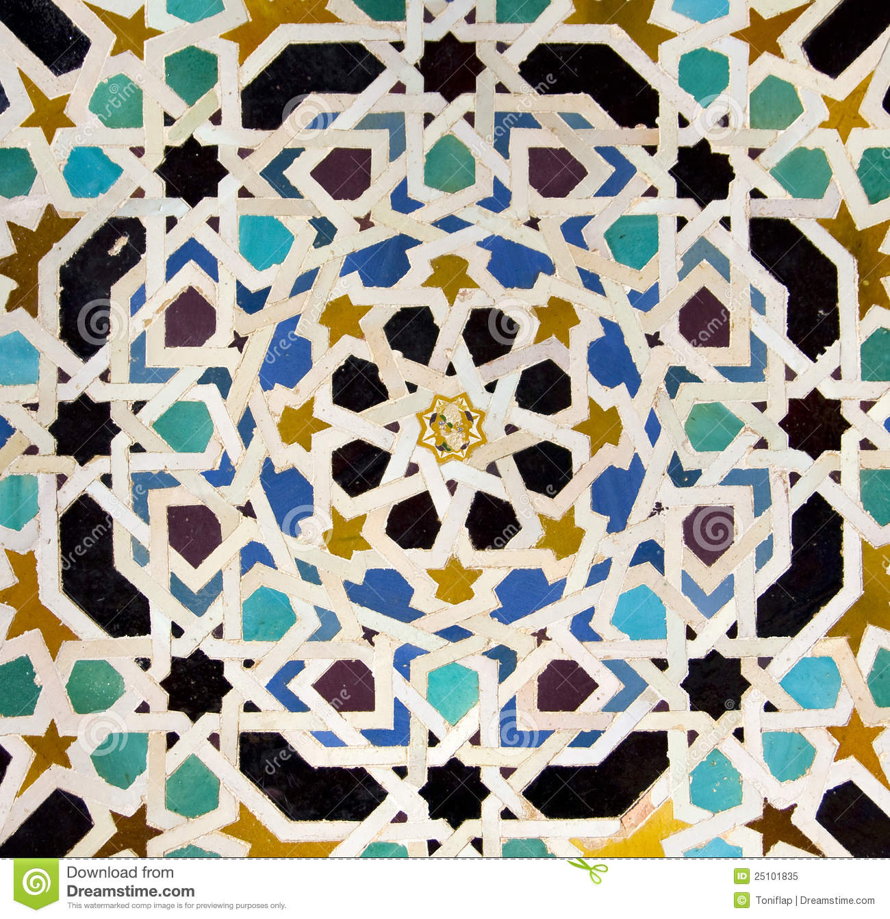 Typical Andalusian Mosaic Spain Stock Image Image 25101835