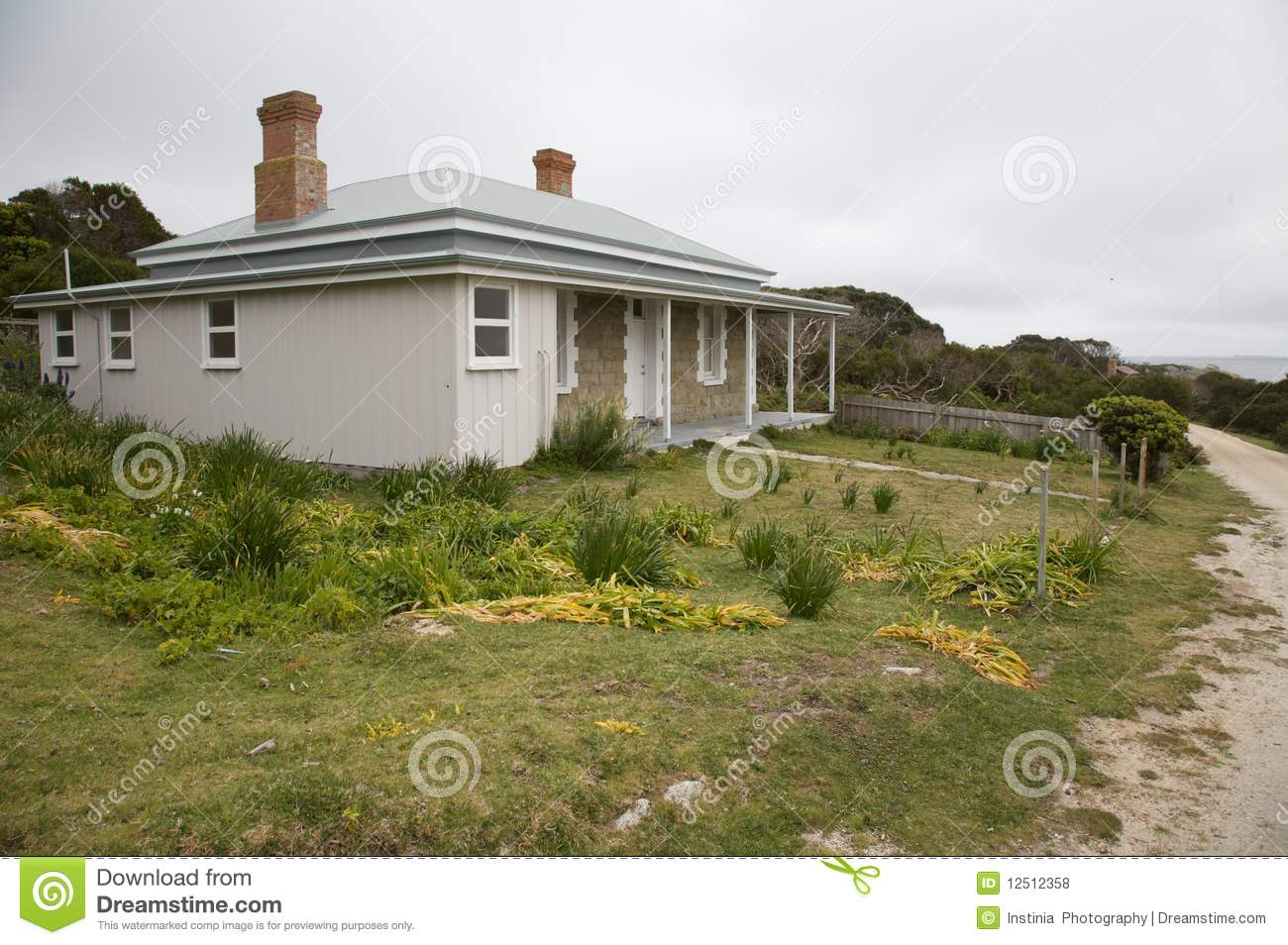 Typical australian weathered beach house royalty free for Beach house designs tasmania