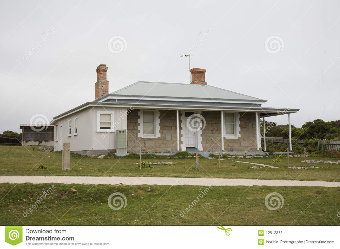 typical australian weathered beach house stock image image of rh dreamstime com