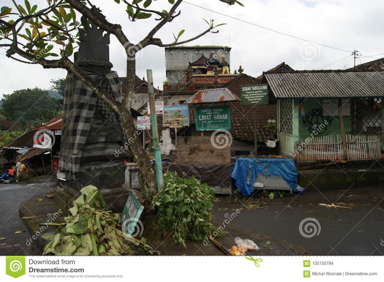 Typical Balinese Street Scene Editorial Stock Image Image