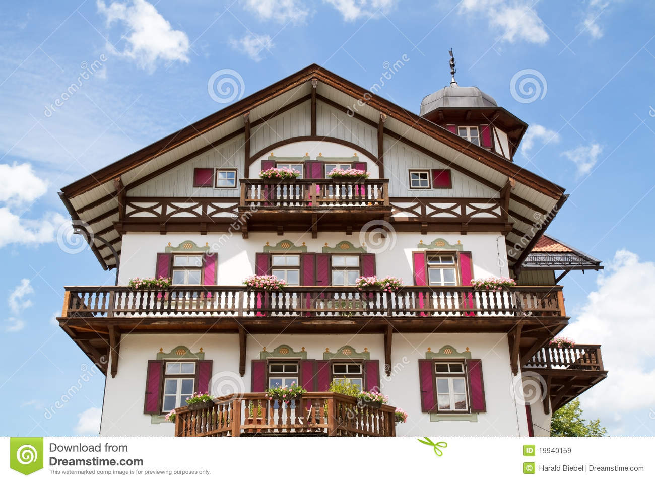 Typical Bavarian Country House Stock Image Image 19940159